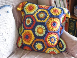 hex pillow